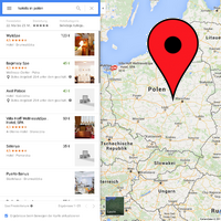 Hotels in Polen Google Map